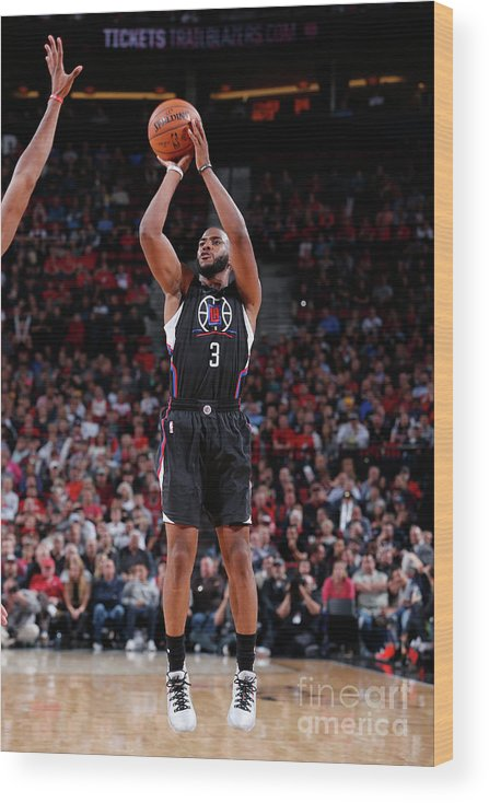Nba Pro Basketball Wood Print featuring the photograph Chris Paul by Sam Forencich