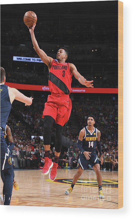 Playoffs Wood Print featuring the photograph C.j. Mccollum by Garrett Ellwood