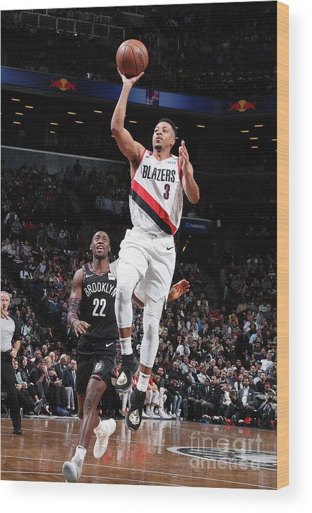 Nba Pro Basketball Wood Print featuring the photograph C.j. Mccollum by Nathaniel S. Butler