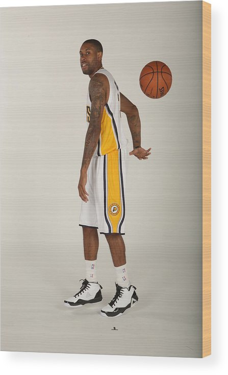 Media Day Wood Print featuring the photograph C.j. Watson by Ron Hoskins