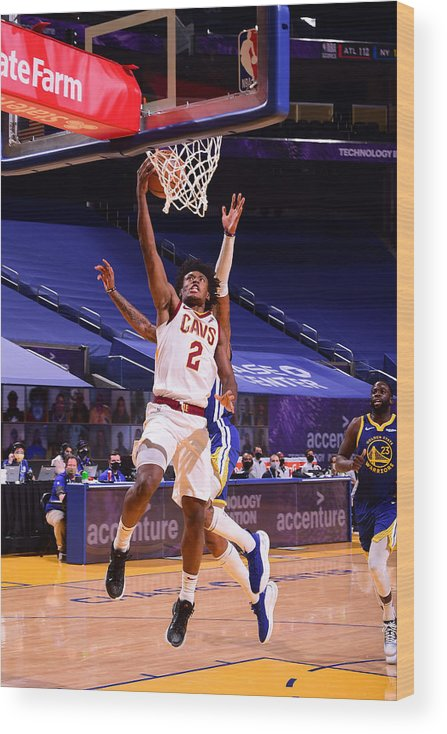 San Francisco Wood Print featuring the photograph Cleveland Cavaliers v Golden State Warriors by Noah Graham