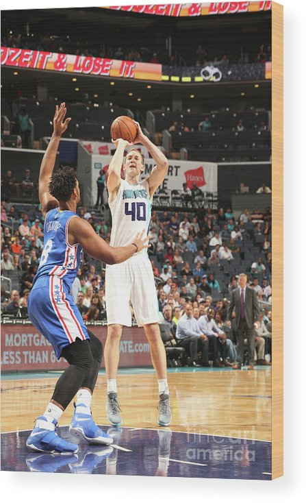 Nba Pro Basketball Wood Print featuring the photograph Cody Zeller by Kent Smith