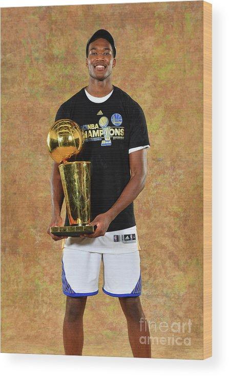 Playoffs Wood Print featuring the photograph Damian Jones by Jesse D. Garrabrant