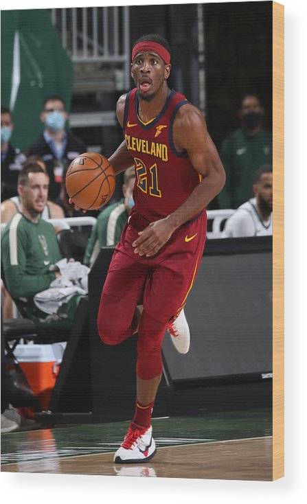 Nba Pro Basketball Wood Print featuring the photograph Damyean Dotson by Gary Dineen