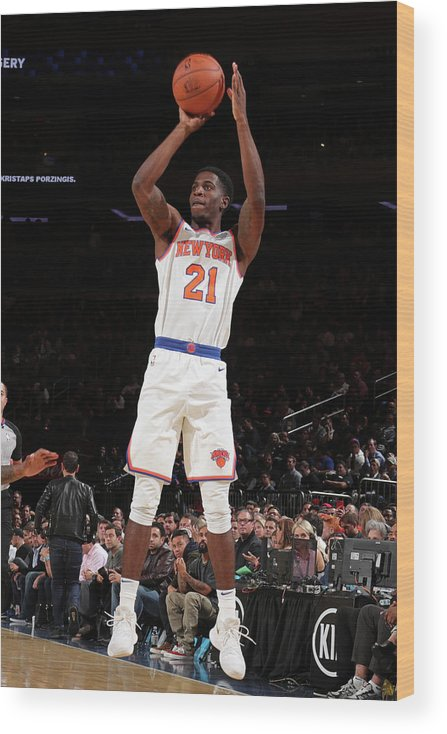 Nba Pro Basketball Wood Print featuring the photograph Damyean Dotson by Nathaniel S. Butler