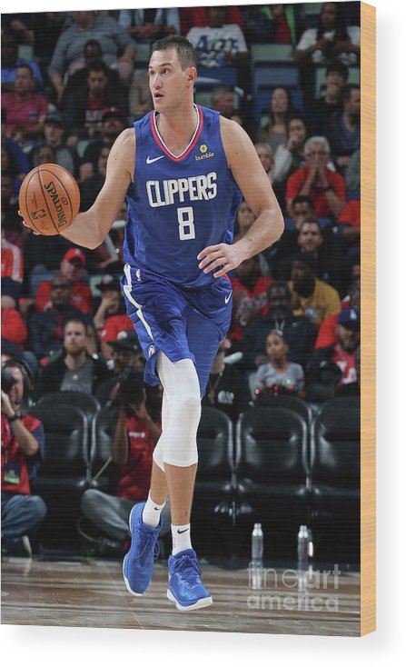 Danilo Gallinari Wood Print featuring the photograph Danilo Gallinari by Layne Murdoch Jr.