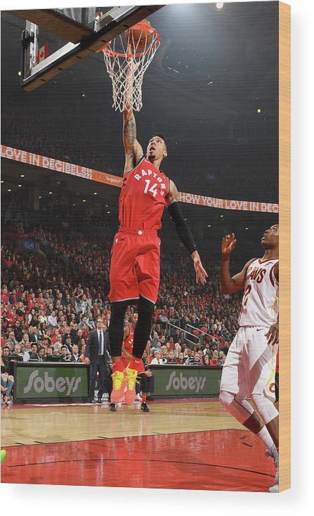 Nba Pro Basketball Wood Print featuring the photograph Danny Green by Ron Turenne