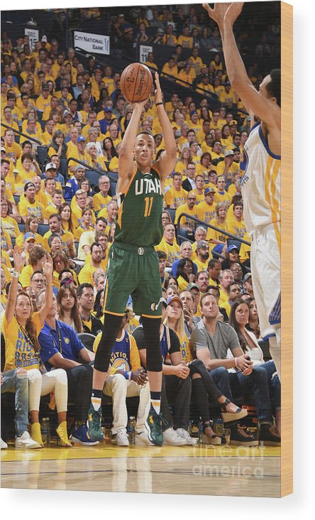 Playoffs Wood Print featuring the photograph Dante Exum by Andrew D. Bernstein