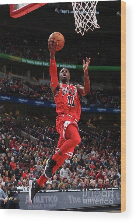 Nba Pro Basketball Wood Print featuring the photograph David Nwaba by Gary Dineen