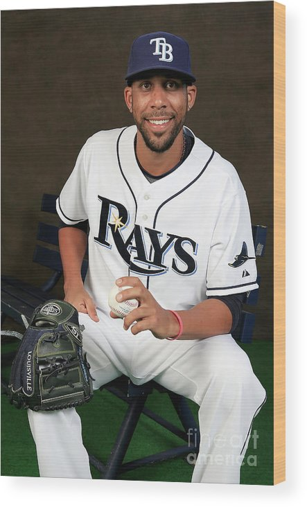 Media Day Wood Print featuring the photograph David Price by Rob Carr