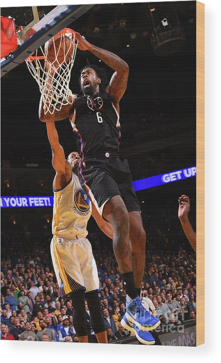 Nba Pro Basketball Wood Print featuring the photograph Deandre Jordan by Noah Graham