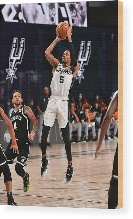 Nba Pro Basketball Wood Print featuring the photograph Dejounte Murray by Jesse D. Garrabrant