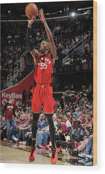 Nba Pro Basketball Wood Print featuring the photograph Delon Wright by David Liam Kyle