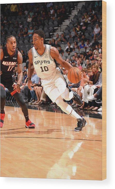 Nba Pro Basketball Wood Print featuring the photograph Demar Derozan by Bill Baptist