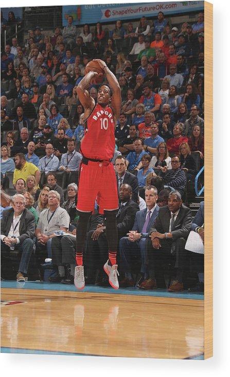 Nba Pro Basketball Wood Print featuring the photograph Demar Derozan by Layne Murdoch