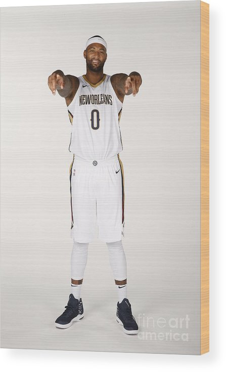 Media Day Wood Print featuring the photograph Demarcus Cousins by Jonathan Bachman