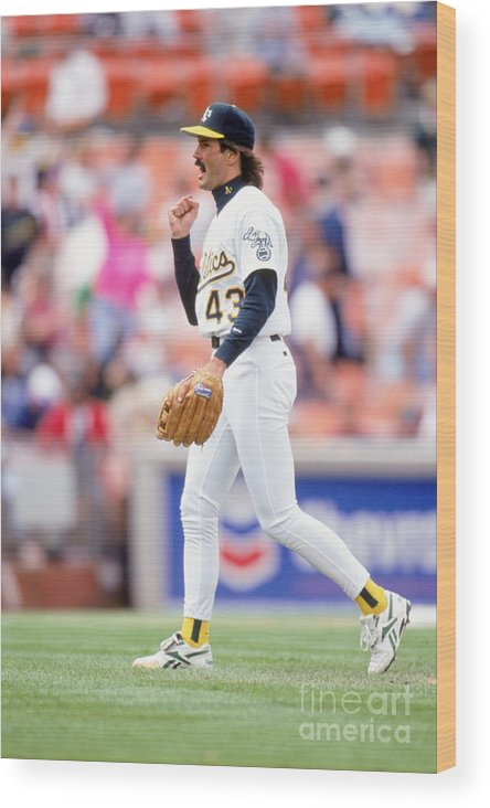 1980-1989 Wood Print featuring the photograph Dennis Eckersley by Don Smith