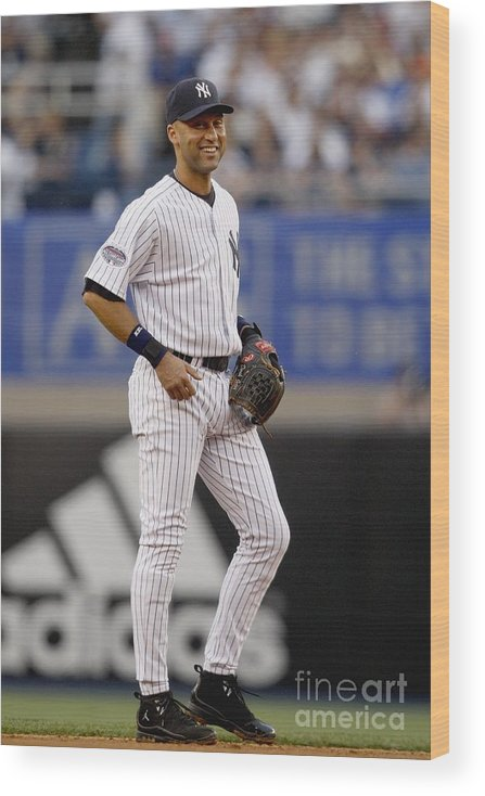 People Wood Print featuring the photograph Derek Jeter by Nick Laham