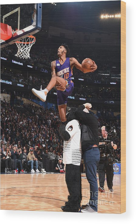 Event Wood Print featuring the photograph Derrick Jones by Andrew D. Bernstein