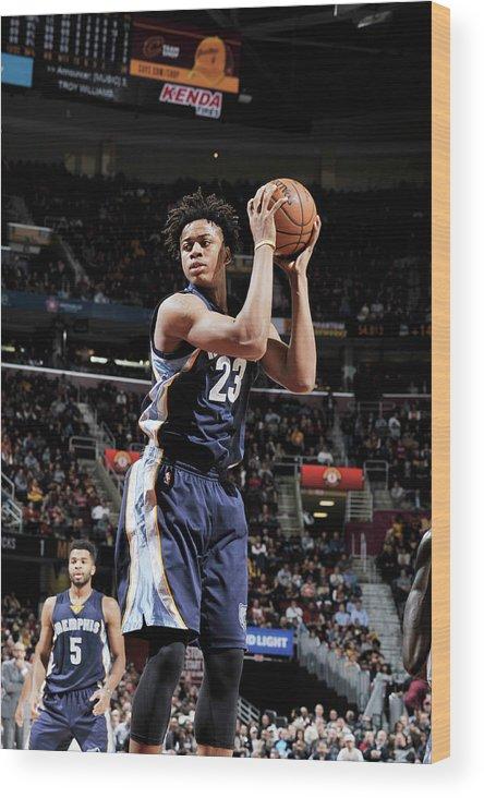 Nba Pro Basketball Wood Print featuring the photograph Deyonta Davis by David Liam Kyle