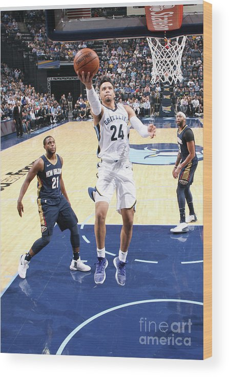 Nba Pro Basketball Wood Print featuring the photograph Dillon Brooks by Joe Murphy