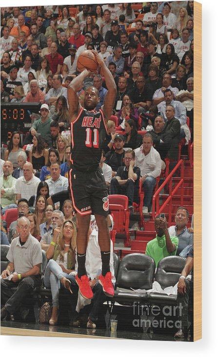 Nba Pro Basketball Wood Print featuring the photograph Dion Waiters by Oscar Baldizon