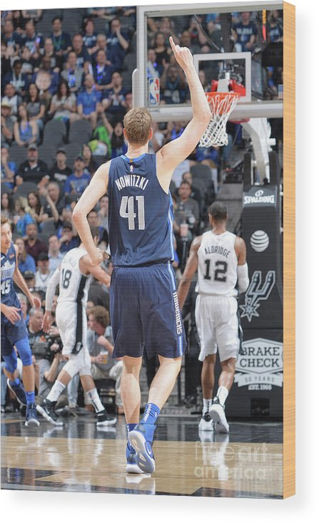 Nba Pro Basketball Wood Print featuring the photograph Dirk Nowitzki by Mark Sobhani