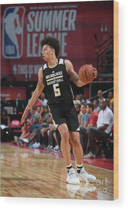 Nba Pro Basketball Wood Print featuring the photograph D.j. Wilson by Garrett Ellwood