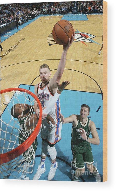 Nba Pro Basketball Wood Print featuring the photograph Domantas Sabonis by Layne Murdoch