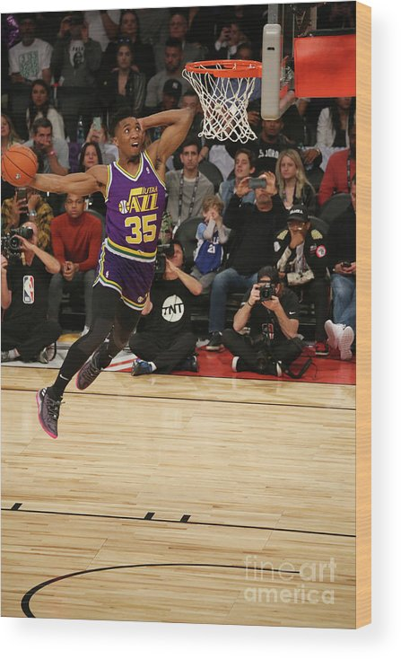 Event Wood Print featuring the photograph Donovan Mitchell by Gary Dineen