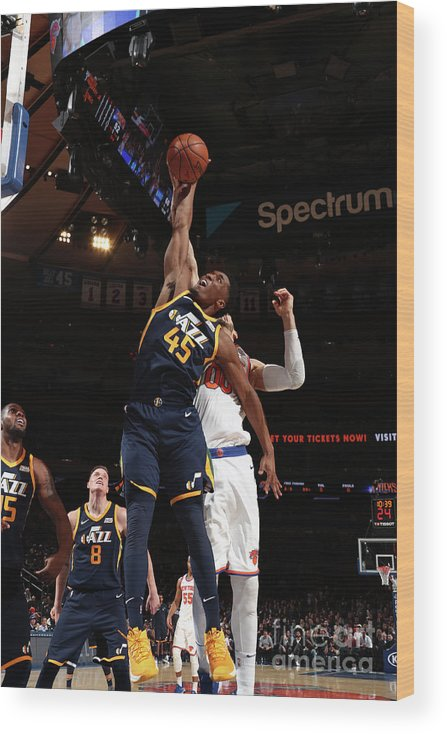 Nba Pro Basketball Wood Print featuring the photograph Donovan Mitchell by Nathaniel S. Butler