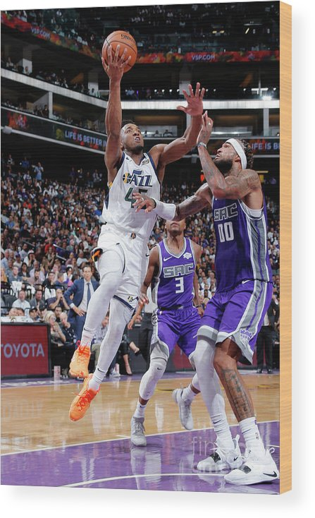 Nba Pro Basketball Wood Print featuring the photograph Donovan Mitchell by Rocky Widner