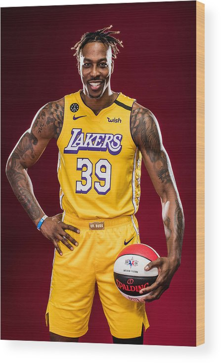 Nba Pro Basketball Wood Print featuring the photograph Dwight Howard by Michael J. LeBrecht II