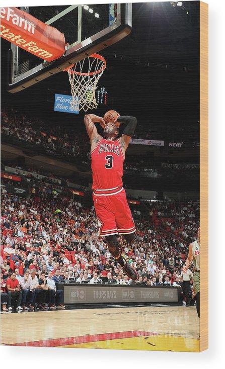 Nba Pro Basketball Wood Print featuring the photograph Dwyane Wade by Joe Murphy