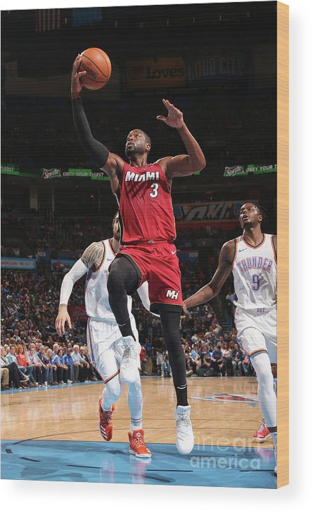 Drive Wood Print featuring the photograph Dwyane Wade by Layne Murdoch