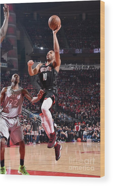 Playoffs Wood Print featuring the photograph Eric Gordon by Bill Baptist