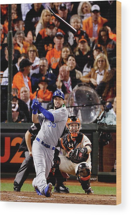 San Francisco Wood Print featuring the photograph Eric Hosmer by Thearon W. Henderson