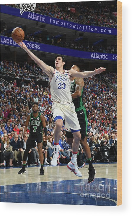 Playoffs Wood Print featuring the photograph Ersan Ilyasova by Brian Babineau