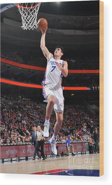 Nba Pro Basketball Wood Print featuring the photograph Ersan Ilyasova by Jesse D. Garrabrant