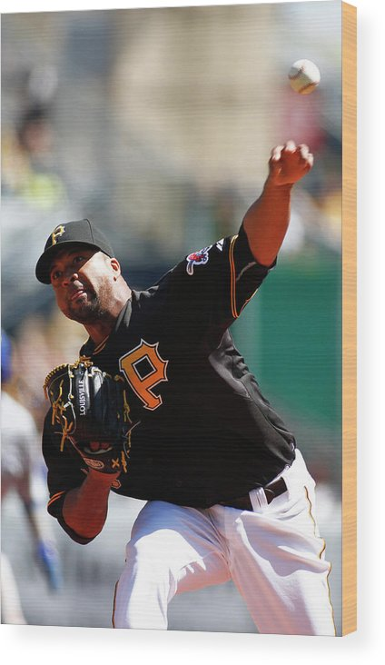 Professional Sport Wood Print featuring the photograph Francisco Liriano by Justin K. Aller