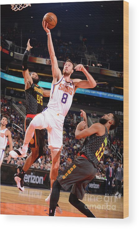 Nba Pro Basketball Wood Print featuring the photograph Frank Kaminsky by Barry Gossage