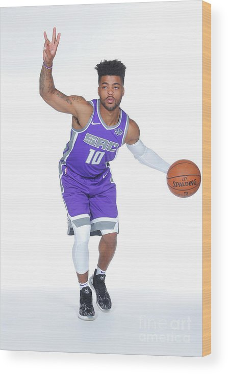 Media Day Wood Print featuring the photograph Frank Mason by Rocky Widner