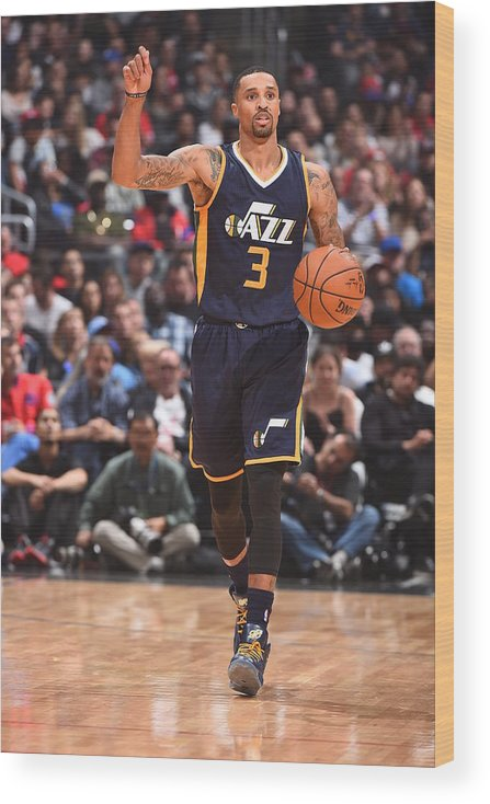Nba Pro Basketball Wood Print featuring the photograph George Hill by Andrew D. Bernstein
