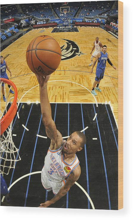 Nba Pro Basketball Wood Print featuring the photograph George Hill by Fernando Medina