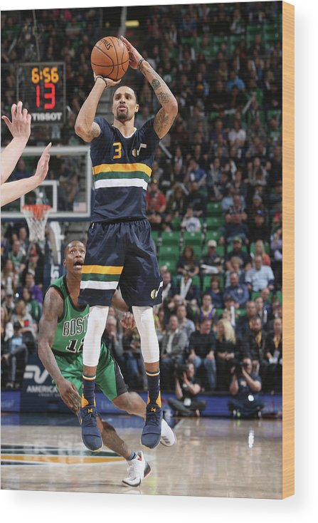 Nba Pro Basketball Wood Print featuring the photograph George Hill by Melissa Majchrzak