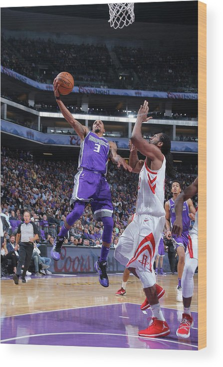 Nba Pro Basketball Wood Print featuring the photograph George Hill by Rocky Widner