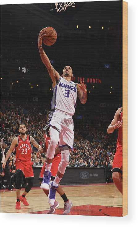 Nba Pro Basketball Wood Print featuring the photograph George Hill by Ron Turenne