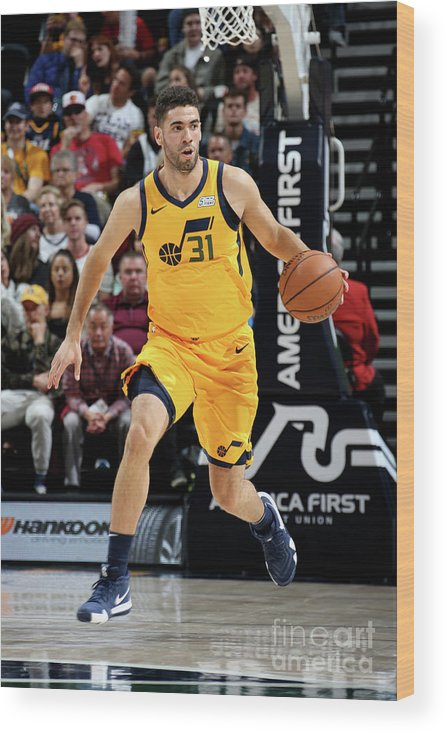 Nba Pro Basketball Wood Print featuring the photograph Georges Niang by Melissa Majchrzak