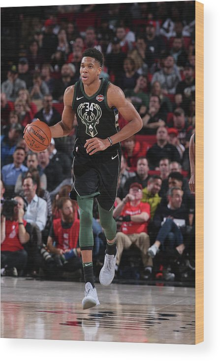 Nba Pro Basketball Wood Print featuring the photograph Giannis Antetokounmpo by Sam Forencich
