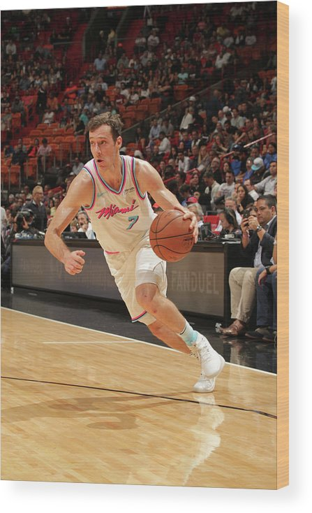 Nba Pro Basketball Wood Print featuring the photograph Goran Dragic by Oscar Baldizon